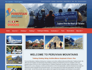 peruvianmountains.com screenshot