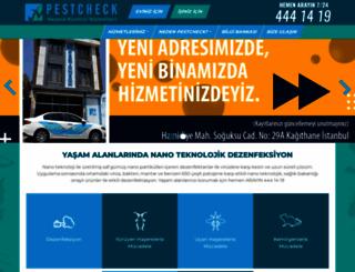 pestcheck.com.tr screenshot