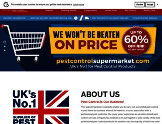 pestcontrolsupermarket.com screenshot