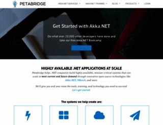 petabridge.com screenshot