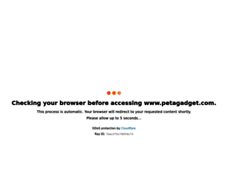 petagadget.com screenshot