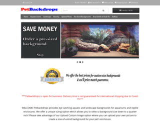 petbackdrops.com screenshot