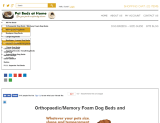 petbedsathome.co.uk screenshot