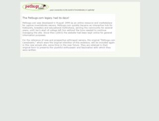 petbugs.com screenshot