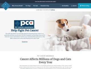 petcancerawareness.org screenshot