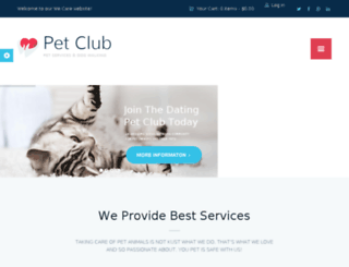 petclub.themerex.net screenshot