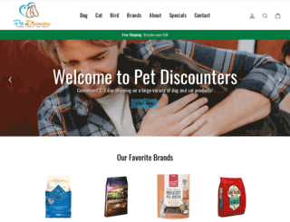 petdiscounters.com screenshot