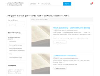 peter-petrej.antiquariatsportal.de screenshot