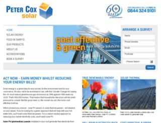 petercoxsolar.co.uk screenshot