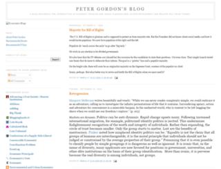 petergordonsblog.com screenshot