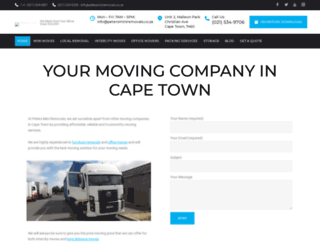 petersminiremovals.co.za screenshot