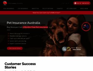 petinsuranceaustralia.com.au screenshot