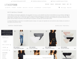 petit-bateau.lexception.com screenshot