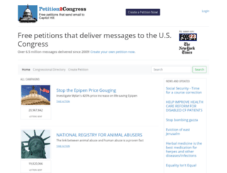 petition2congress.com screenshot