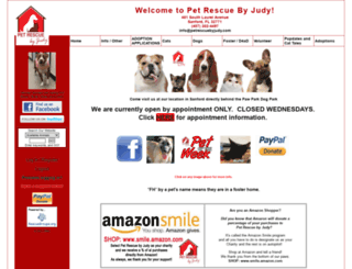 petrescuebyjudy.com screenshot