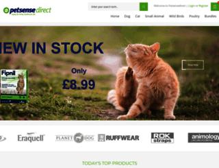 petsensedirect.co.uk screenshot