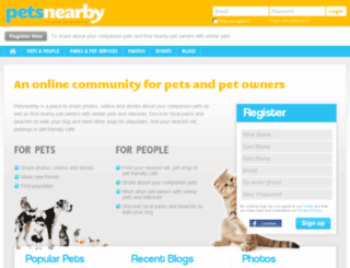 petsnearby.com screenshot