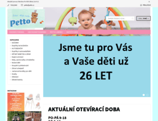 petto.cz screenshot