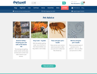petwell.co.uk screenshot