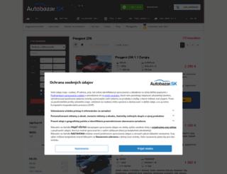 peugeot-206.autobazar.sk screenshot