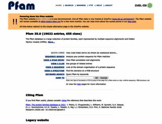 pfam.xfam.org screenshot
