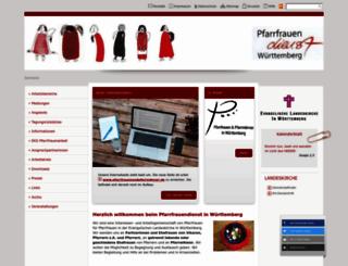 pfarrfrauendienst.de screenshot