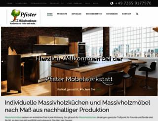 pfister-moebelwerkstatt.de screenshot