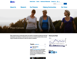 pfizer.ca screenshot