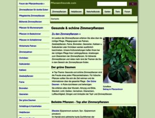 pflanzenfreunde.com screenshot