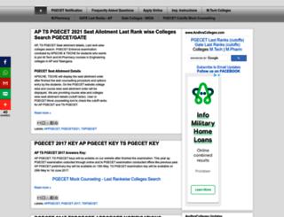pgecet.in screenshot