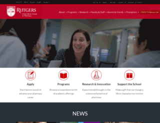 pharm.rutgers.edu screenshot