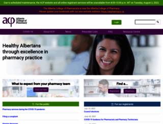 pharmacists.ab.ca screenshot
