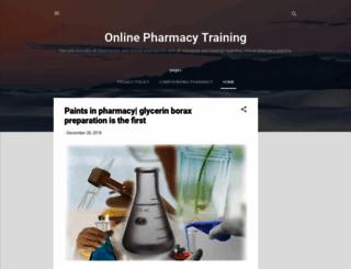 pharmacy-training.blogspot.com screenshot