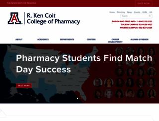 pharmacy.arizona.edu screenshot