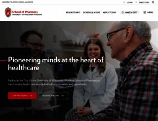 pharmacy.wisc.edu screenshot
