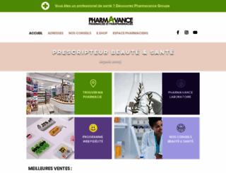 pharmavance.fr screenshot