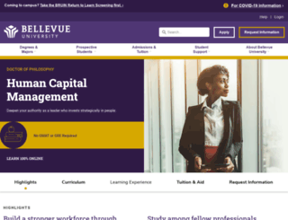 phd.bellevue.edu screenshot