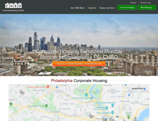 philadelphia.corporatehousingbyowner.com screenshot