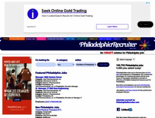 philadelphiarecruiter.com screenshot