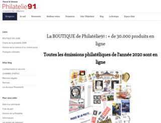 philatelie91.fr screenshot