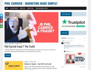 philcarrick.net screenshot