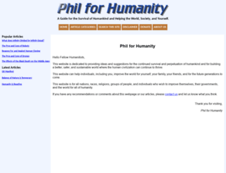 philforhumanity.com screenshot