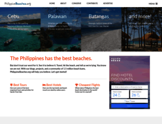 philippinebeaches.org screenshot