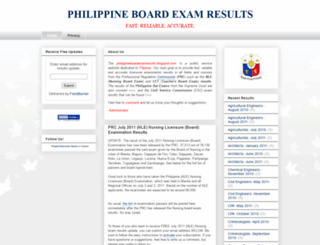 philippineboardexamresults.blogspot.com screenshot