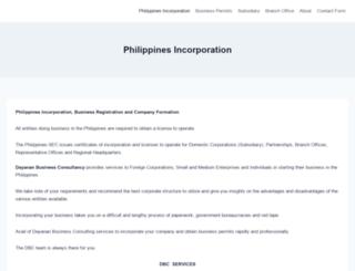 philippinesincorporation.com screenshot
