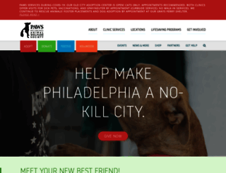 phillypaws.org screenshot