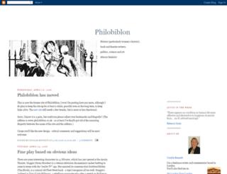 philobiblion.blogspot.de screenshot