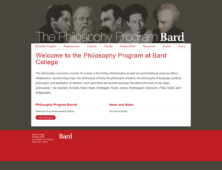 philosophy.bard.edu screenshot