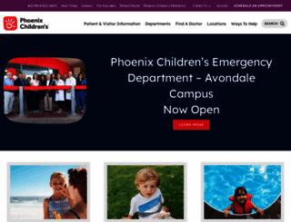 phoenixchildrens.com screenshot