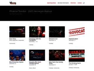phoenixtheatermpls.org screenshot